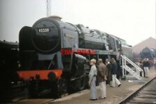 PHOTO  1975 BR 92220 EVENING STAR IN THE OLD COAL SIDINGS AT THE STOCKTON AND DA