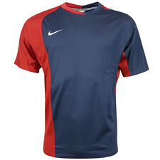 Nike Performance Short Sleeves Dri Fit Mens Rugby Top Navy Red 329302 410 Dd115 L