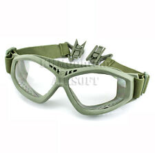 Dream Army Clear Glasses Goggles for FAST Helmet / Green(KHM Airsoft)