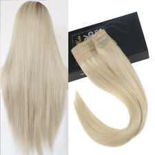 Sunny Invisible Halo Hair Human Hair Extensions Wire Platinum Blonde 60#