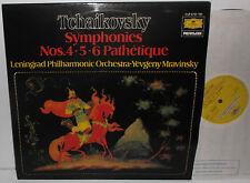2721 184 Tchaikovsky Symphonies 4,5,6 & Pathetique Leningrad Phil Mravinsky 2LP