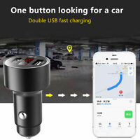 Car GPS Tracker Locator Real Time Tracking Device Dual USB Charger LED Voltmeter