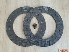 FACING SET CLUTCH DRIVEN PLATE WILLYS MB NEW OLD STOCK