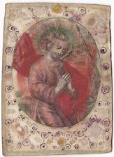 Antico Santino a Colori - Incisione Applicata su Pergamena Decorata a Mano