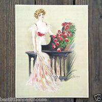 Vintage Original GRAND PIANO VICTORIAN STONE LITHOGRAPH PRINT 1909 nos unused