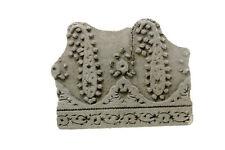 TAMPON BOIS A BATIK ANCIEN TEXTILE INDE NEPAL  NP17A5
