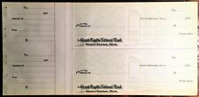 1920's Grand Rapids National Bank - Two checks with stubs attached - Unused