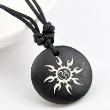 Cool Surf Style Carved Sun Hindu Hinduism Pendant Necklace