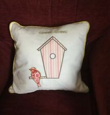 Kirstie Allsopp Cushion Tweet Tweet Strawberry, 45 x 45cm, Feather Pad