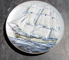 """Danbury Mint Plate Great American Sailing Ships Clasic Rose """"The Alfred"""" Mib Le"""