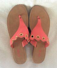 APT 9 Sandals Flip Flops CORAL PINK  Wedge Heel  Size Large 9-10 -  FLASH SALE