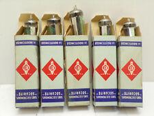lot 5 Lampe tube radio RADIOTECHNIQUE 6X4 vintage TSF armée french army