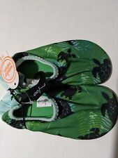 Boys Turtle Water Beach Shoes Green Black Size 7-8
