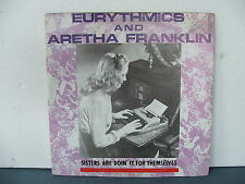 "RECORD 12""/45  ""SISTERS ARE DOIN IT FOR THEMSELVES"" ARETHA & EURYTHMICS"