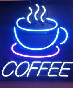 """17""""x14""""COFFEE Neon Sign Caféladen Wandbehang Neonwerbung Beleuchtung Neonschild"""