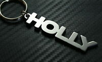 HOLLY Personalised Name Keyring Keychain Key Fob Bespoke Stainless Steel Gift