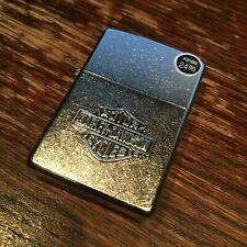 Zippo 24002 Harley Davidson HD Stamp Bar & Shield Model DISCONTINUED Lighter