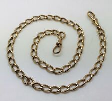 "16.5"" long 9ct Rose gold Albert chain 2 swival clasps 23.05 grams Value £1,270"