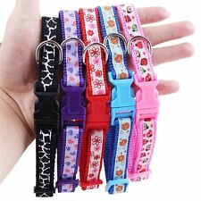 Pet Supplies Colorful Floral Printed Soft Puppy Adjustable Dog Collar