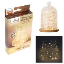 Home Lighting 'Warm White' Copper Tone Wire Lights - 10 LED Bulbs