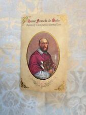 St. Francis de Sales Patron of HEARING LOSS,  Prayer Holy Card & Medal  New  Pkg