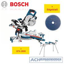 Bosch Paneelsäge GCM 8 SJL+GTA 2600 Untergestell+Wood Kreissägeblatt 0601B19100