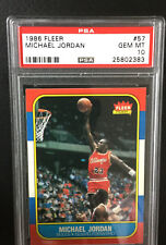 1986 Fleer MICHAEL JORDAN PSA 10 Gem Mint. # 23 as part of serial number. 1/1?
