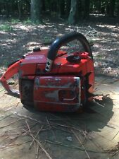 Homelite 360 57cc professional chainsaw refurbished with new rear rubber handle.