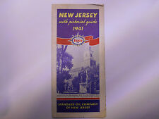 ancienne carte routiere usa new jersey esso road map 1941