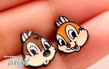 Disney squirrel couple metal earring ear stud earrings 2PCS anime Studs new