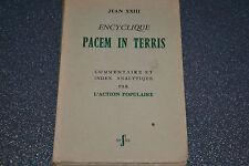 Encyclique Pacem in Terris JEAN XXIII (B1)