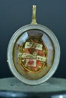 2st Class Relic Reliquary 18THc Pope Pius V & St Charles Borromeo Rare