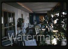 1964 kodachrome photo slide Aboard Ship MS Gripsholm #9 Palm Court