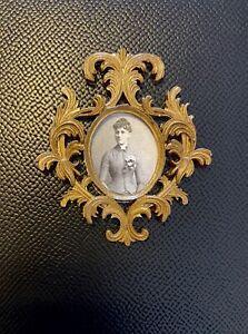 Dollhouse Miniature 1:12 Picture Frame Victorian Gothic Mansion Antique Photo
