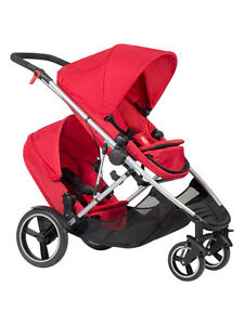 Phil & Teds New Voyager Stroller & Double Kit Red Brand New!!