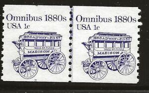 US Scott #1897, Plate #2 Line Pair 1983 Omnibus 1c FVF MNH