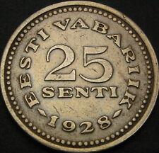 ESTONIA 25 Senti 1928 - VF/XF - 3378 ¤