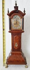 Warmink Miniature Longcase Clock Burl Wood 8 Day Moonphase Bell Strike Rare