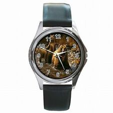 Grizzly Bear Forest Mural Bears Grizzlies Leather Watch New!