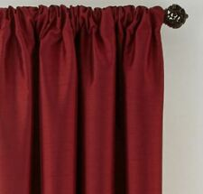 *Royal Velvet Plaza Lined Blackout Rod-Pocket Curtain Panel 50Wx72L Palmetto Red