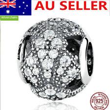 CZ S925 Solid Sterling Silver European Charm bead Orignal FAN charm bead #7