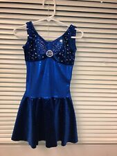 Figure Skating Competition Dress Girls Royal Blue Size Child Small(6-8)