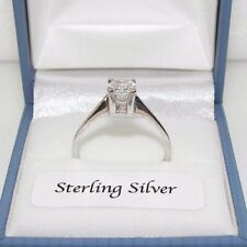 Unbranded Solitaire Simulated Fine Rings