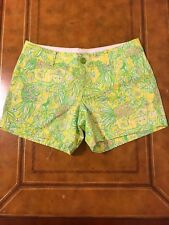 Lilly Pulitzer Crazy Cat House Callhan Shorts Recut Sample Pineapple