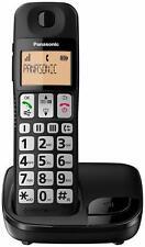 Panasonic KX-TGE110JTB Telefono Cordless Digitale DECT Singolo ad Utilizzo Fa...