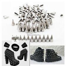 7*10mm Cone Screwback Metal Studs Leathercraft Rivet Bullet Spikes Spots 100PCS