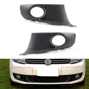 Pair Front Bumper Fog Light Grille Fit For VW Touran CADDY 10-15