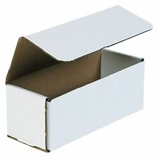 50- 8x3x3 White Corrugated Carton Cardboard Packaging Shipping Mailing Box Boxes