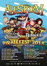 "ALESTORM /RUMAHOY ""PIRATEFEST 2018 UK & IRELAND"" CONCERT TOUR POSTER-Power Metal"