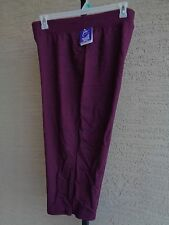 NWT JUST MY SIZE 1X FRENCH TERRY JERSEY KNIT CAPRIS  Plum